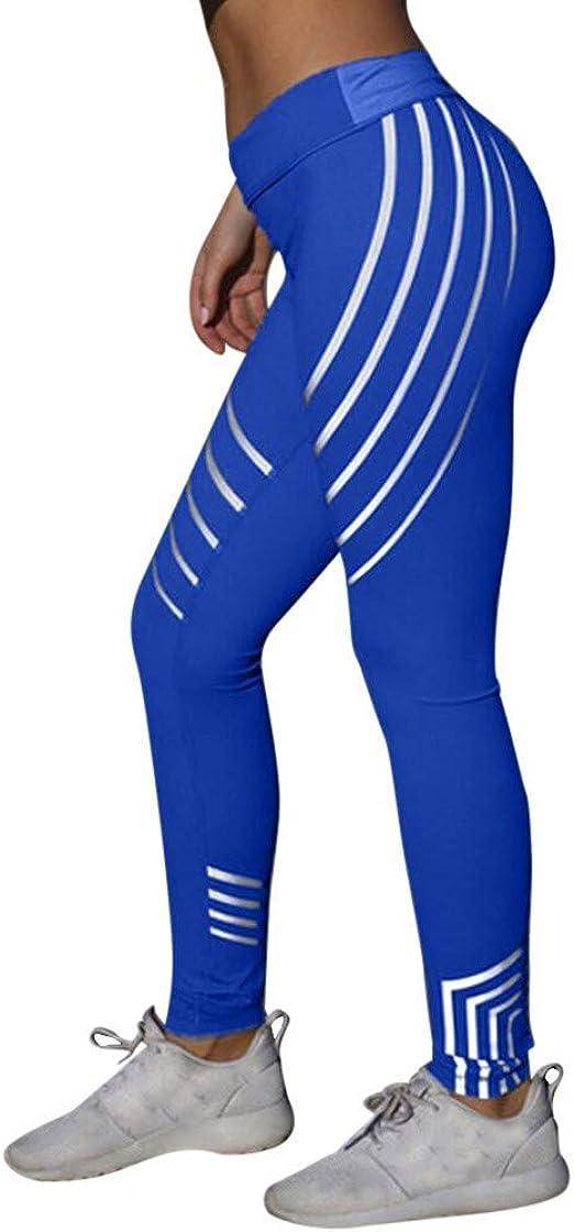 SGMORE ❤ Women High Waist Yoga Laser Color Yoga Pants Leggings Running Gym Stretch Sports Trousers