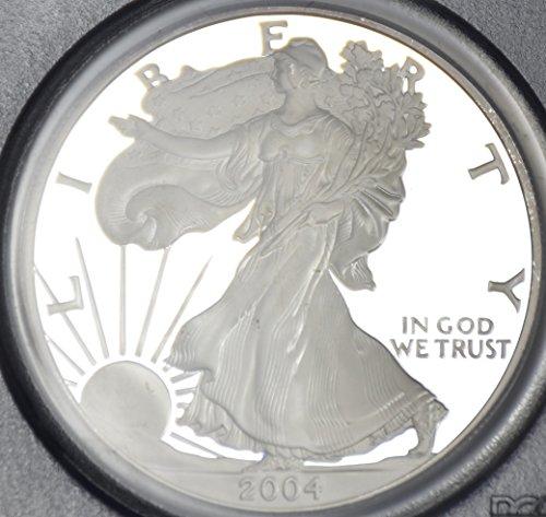 2004 W Silver American Eagle $1 PR-70 PCGS DCAM