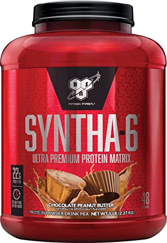 BSN SYNTHA-6 Whey Protein Powder, Micellar Casein, Milk Protein Isolate Powder, Chocolate Peanut Butter, 48 Servings (Package May Vary)