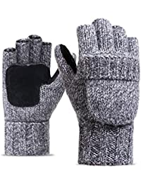 New Winter Knitted Suede Thinsulate Thermal Insulation Mittens Gloves