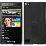 Silikon Hülle für BlackBerry Z3 - Brushed Silber - Cover PhoneNatic Schutzhülle Case