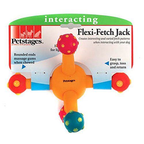 Petstages Flexi Fetch Jack Interactive Dog Toy (One Size) (Multicoloured) (Toy Fetch Petstages)
