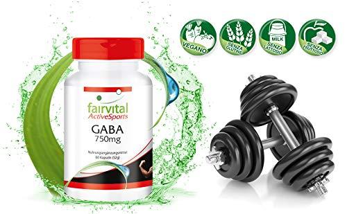 GABA 750mg cápsulas - VEGANO - Altamente dosificado - 60 cápsulas - ácido gamma-aminobutírico - ¡Calidad Alemana garantizada!: Amazon.es: Salud y cuidado ...