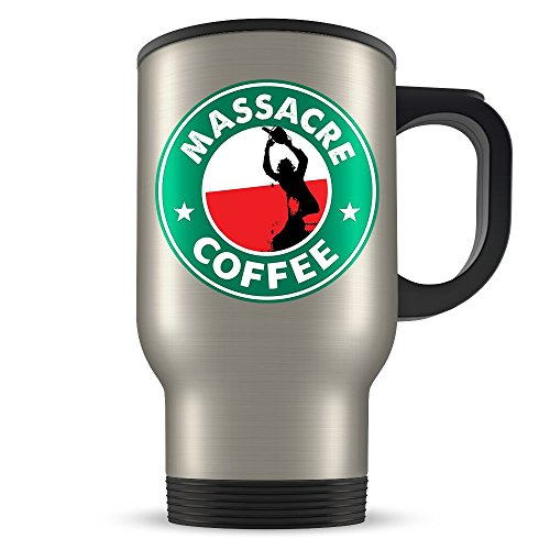 Texas Chainsaw Massacre Travel Mug - Leatherface Traveller Coffee Cup - Great Gift for Fans of the Movie - Funny Starbucks (Halloween Franklin Movies)