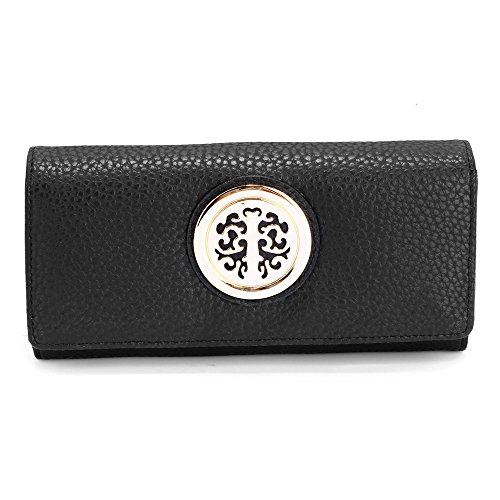 Black and Wallet designer Metal Decoration Purses Design With Ladies 2 Womens Luxury Slots Look Large Card qwgxZZ