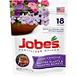 Jobe's Fertilizer Spikes for Flowering Plants 8-9-12 Time Release Fertilizer for Hanging Baskets andPotted Plants, 18 Spikes per Package