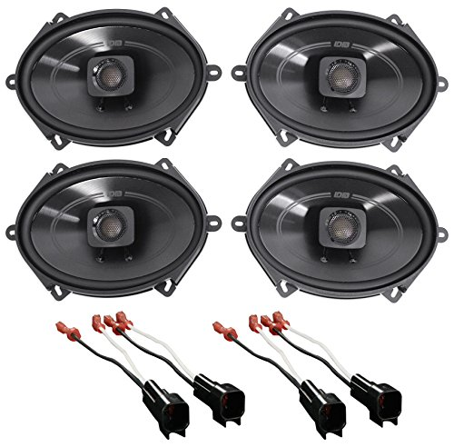(Polk 5x7 Front+Rear Speaker Replacement Kit for 05-07 Ford F-250/350/450/550)