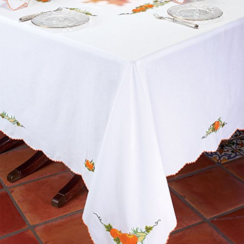 Harvest Tablecloths Tablecloths, White (70'' x 144'') by Schweitzer Linen