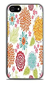 Blooms Bursts Flower White Silicone For HTC One M8 Phone Case Cover