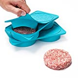 MeisterBurger Burger Press - Makes Perfectly-Shaped Stuffed and Regular Hamburger Patties - Non-Stick FDA Approved Food-Grade Silicone - Easy to Fit in Freezer or Fridge - Dishwasher Safe - [Set of 2]
