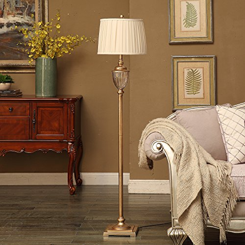 Floor Lamp,Topotdor Berg Crystal Antique Brass Floor Lamp 61