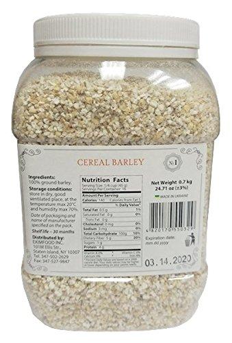 Barley Grounded Yachnevaya Premium Quality No GMO 24.71oz/700g Plastic Jar by Wisetargo Food