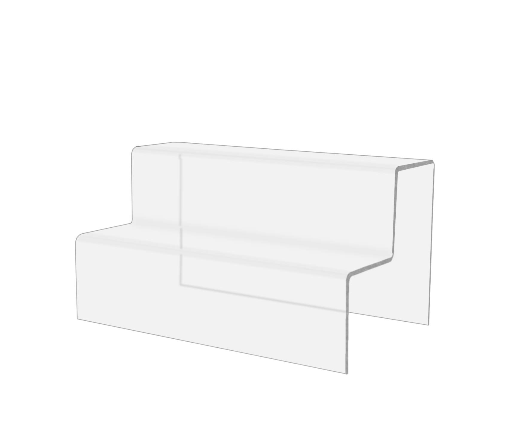 Marketing Holders 2 Tier Double Stairway Retail Display Countertop Trinket Collectible Showcase Tiered Riser Stand Pack of 10