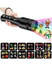 COMLIFE Proyector de Luz LED 12 Modos de Luces Portátil y Seguro Buen Regalo para Niños Decoración de Luces para Navidad, Pascua, Carnaval, Halloween, Fiesta de Cumpleaños