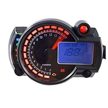 Indexu Universal Analog Tachometer Speedometer Gauge