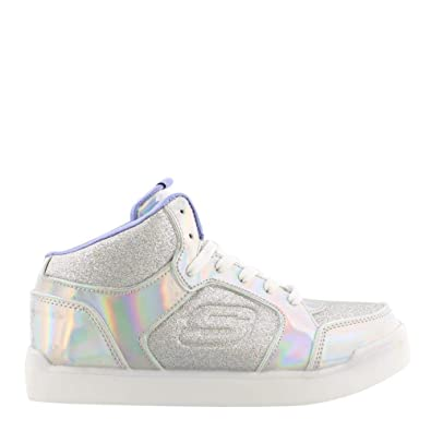 4c66fccfb79c Skechers S Lights Energy Lights Ultra Glitzy Glow Girls Light Up Sneakers  Silver 1