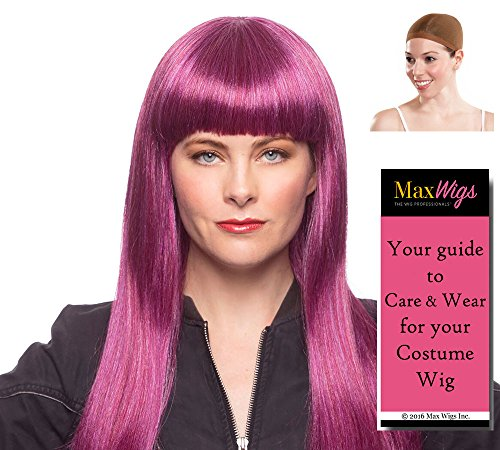 (Daughter Mal Color Mixed Lavender - Enigma Wigs Queen of Isle Descendants Dove Bundle w/Cap, MaxWigs Costume Wig Care)