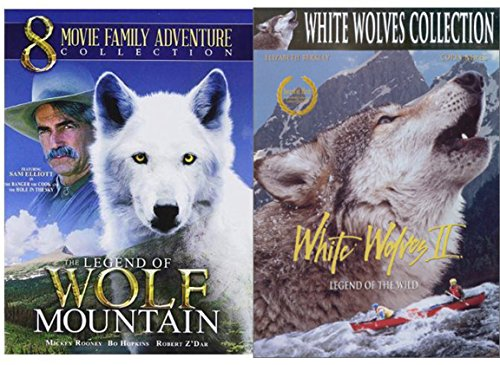 Wild Wolves Adventure Collection The Legend of Wolf Mountain 8 Movies + White Wolves 2 DVD Family Bundle Cook Ranger Hole Sky / Journey / Huck Finn / Captain Johnno / Red Fury