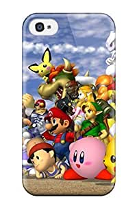New Fashion Premium Tpu Case Cover For Iphone 4/4s - Smash Brothers