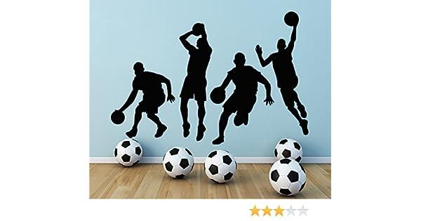 Adhesivos de Pared Sala de Deportes Atleta Baloncesto de Vinilo ...