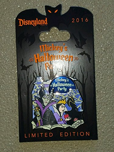 2016 DISNEYLAND MICKEY'S HALLOWEEN PARTY Disney Evil Queen Villains limited edition Pin]()