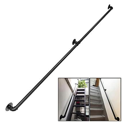 Vintage Main Courante Pour Escalier Exterieur Interieur Balustrade Garde Corps Terrasse Rampe D Escalier Kit De Support Mural Balustrades Pour