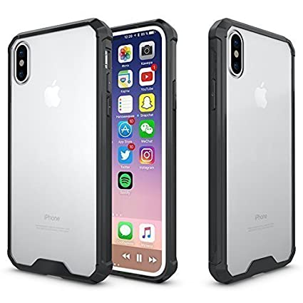 best sneakers dc9b9 c72ba iPhone X Case ,iPhone 10 Case Crystal Transparent Clear and Air Cushion  Design and Anti-Scratch Shock-Absorption Bumper Cover for Apple iPhone X  and ...