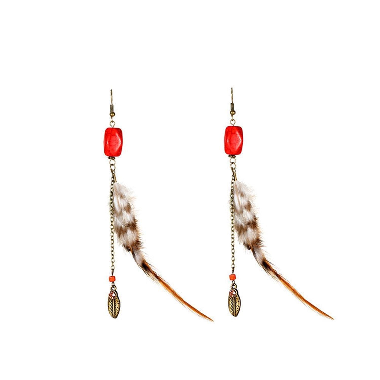410db1aba110 Venta caliente 2018 Dana Carrie Adornos de orejas largas plumas y una  elegante simplicidad
