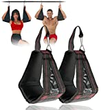 wonderfulwu Padded Hanging AB Straps, 1 Pair AB Sling Suspension Hanging Straps Belts Abdominal Muscles Training Reverse Pull Sit Ups Chin-up Bar Mounted Crossfit Muscles Carver