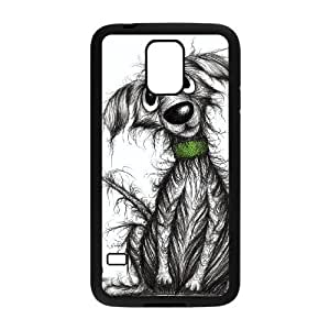Custom Cover Case with Hard Shell Protection for SamSung Galaxy S5 I9600 case with Cartoon dog lxa#969608