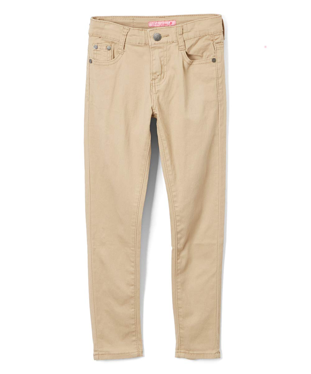 Big Girl's Khaki Skinny Uniform Pants Size 14 UGP02