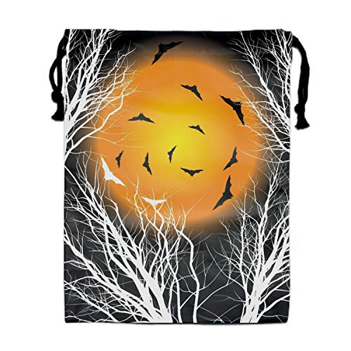 Halloween Moon Cartoon Gift Candy Drawstring Bags Pouch