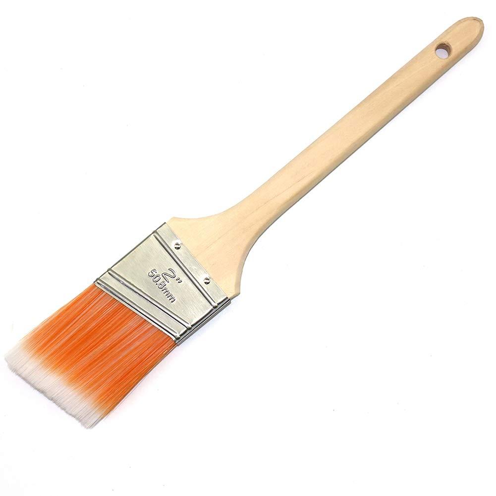 MAXMAN アングルサッシュペイントブラシ トリム ペイントブラシ 壁用 木製ハンドル 2インチ One Size オレンジ MPB002-Orange  オレンジ B07RFQZCSX