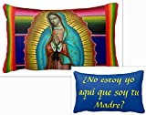 Our Lady of Guadalupe full Tilma Zarape Decorative Prayer Pillow Spanish (13x21)