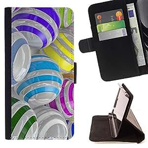 Planetar® Modelo colorido cuero carpeta tirón caso cubierta piel Holster Funda protección Para Samsung Galaxy S6 Edge Plus / S6 Edge+ G928 ( Colorido cristal reflectante Orbe Resumen )