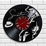 Wall clock Sinatra made from real vinyl, Sinatra wall poster For Sale