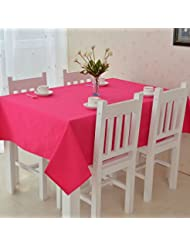all for you rectangular fabric table washable dinner picnic table colors size 52 in x 70 in hot pink