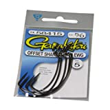 Gamakatsu Extra Wide Gap Worm Hook-5 Per Pack (Black, 5/0)