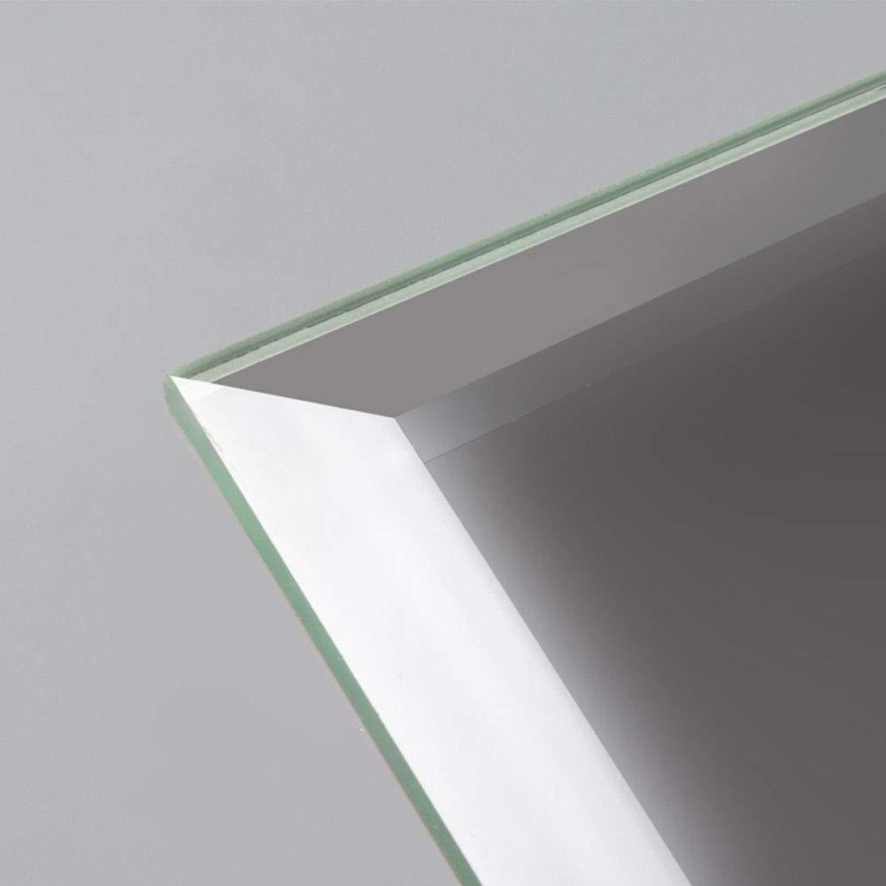 Diflart 4x8 Inch Beveled Subway Mirror Tiles for Kitchen Backsplash Bathroom Covers 17 sq/ft Pack of 78