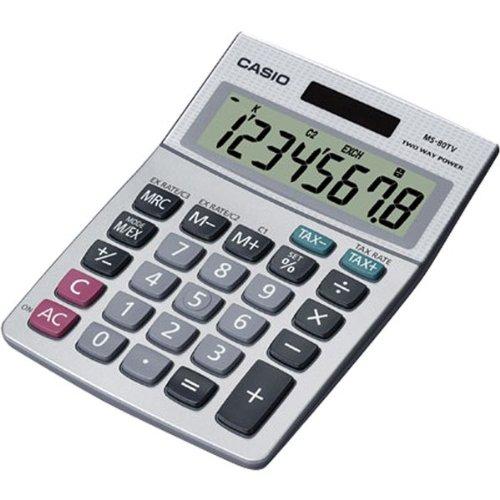 Desktop Calc W/8-Digit Display Tax Currecy Profit Margin % +