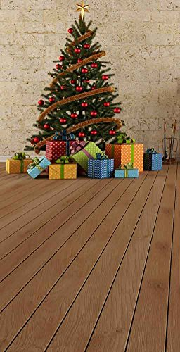 GladsBuy Christmas Tree With Presents 10' x 20' Computer Printed Photography Backdrop Christmas Theme Background ST-023 by GladsBuy
