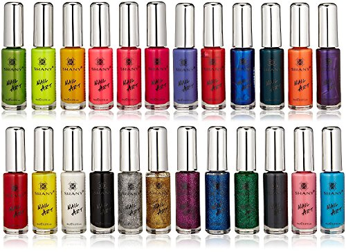 SHANY Nail Art Set (24 Famous Colors Nail Art Polish, Nail Art Decoration)