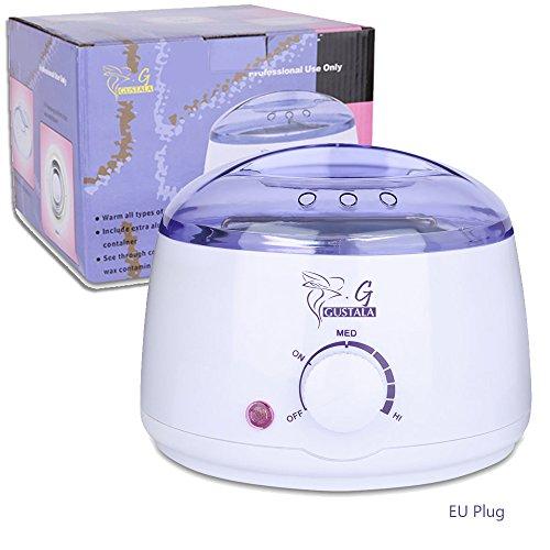 Price comparison product image GUSTALA Wax Warmer,  Electric Hair Removal Hot Wax Warmer 17 oz Mini SPA Hands Feet Wax Heater (EU PLUG)
