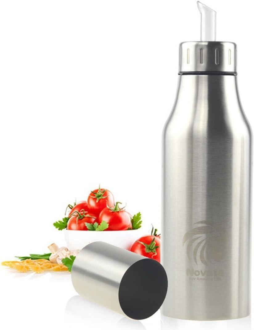 NOVATA aceite / vinagre /Salsa de soja vertiendo botella de fugas de acero inoxidable
