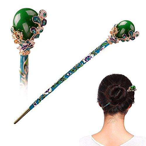 STAR-TOP Chinese Hair Chopsticks Hair Decor Flower Ginkgo biloba Hair Pins Hair Clip Metal Hair Stick Jewelly Box by STAR-TOP