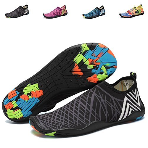 a577728143f7 CIOR Men Women Kid s Barefoot Quick-Dry Water Sports Aqua Shoes With 14  Drainage Holes For Swim