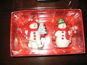 Department 56 Anna Griffin Ceramic Snowmen Salt & Pepper