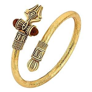 Pure Brass Rudraksha Shiv Trishul Damroo kada.