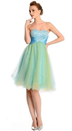 Amadeo Elegant Strapless Sweetheart Beading Short Blue Homecoming Dresses LF048 (Plus Size 30)
