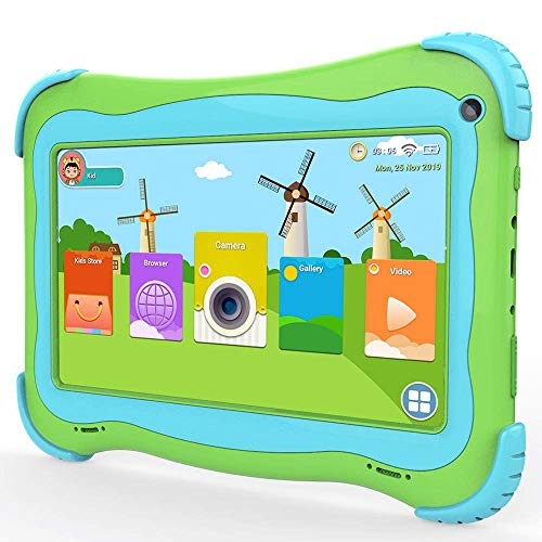 Kids Tablet PC 7 Inch Quad Core Android Tablet 3800mAh Works 8 Hours, Safety Eyes Protection IPS Screen, Dual Cameras…